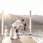Romantic wedding lake Como